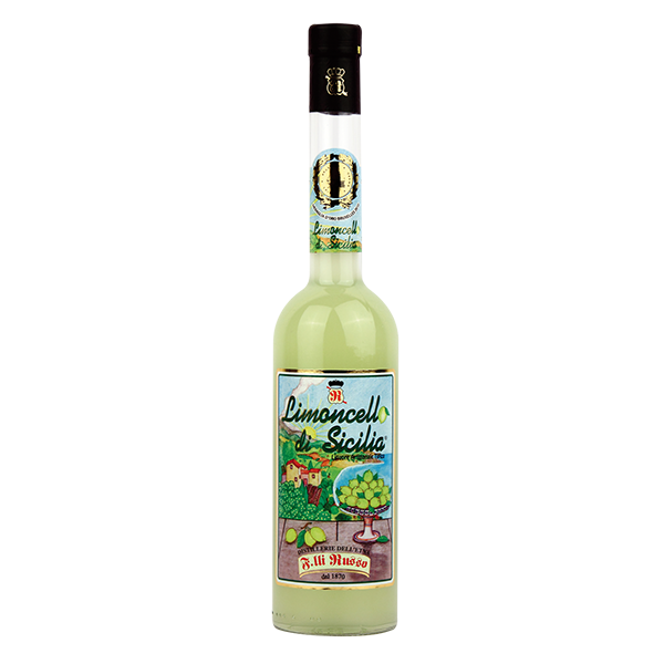 Limoncello di Sicilia is the most typical liqueur of our beautiful land of Sicily, produced by the F.lli Russo Distillery in Santa Venerina